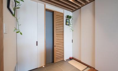 不動前Tさんの家 (玄関扉)