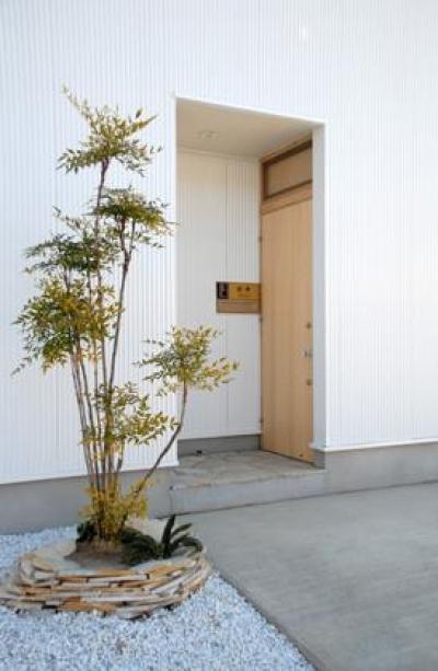 house k (シンボルツリーのある玄関)