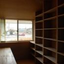 house kの写真 2階にある本棚