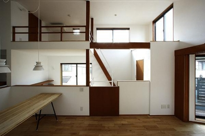 Hut room house/小屋部屋のある家 (階段とつながるLDK)