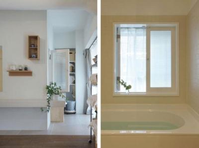 バスルーム (aki-廊下に「広場」、バルコニーに風呂)