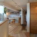 文京区Iさんの家の写真 玄関から見たキッチン