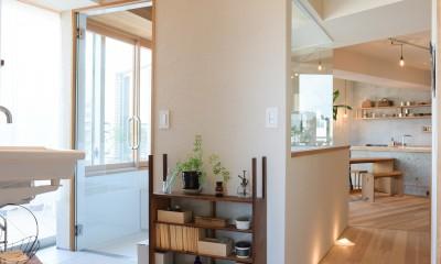 文京区Iさんの家 (浴室外の壁面)