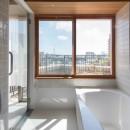 文京区Iさんの家の写真 浴室からの眺望