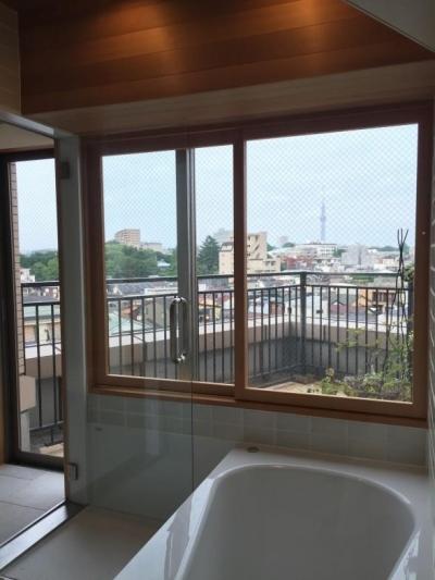 浴室からの眺望 (Iさんの家)