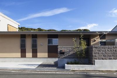 目が行き届く快適な平屋#和歌山の家 (外観)