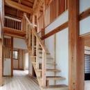 静岡県伊東市にある築100年の古民家の写真 木を感じるオープン型階段