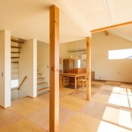 ちいさく・ひろく・ひろく   ー横井のN-House (リビング・ダイニングキッチンを眺める)
