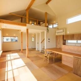 ちいさく・ひろく・ひろく   ー横井のN-House (ロフトのある開放的な空間)