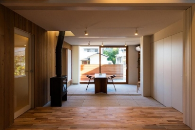 つなぐ家  ー田上のI-House (オープンテラス-OPEN)