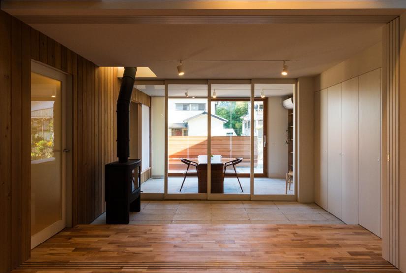 つなぐ家  ー田上のI-House (オープンテラス-CLOSE)