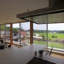 栃木県宇都宮市 House K - 太陽と風をつかまえる家 -の写真 自然を感じる2階リビング