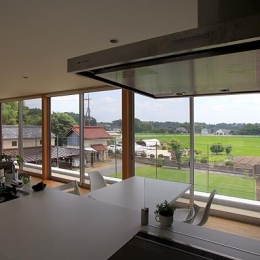 自然を感じる2階リビング (栃木県宇都宮市 House K - 太陽と風をつかまえる家 -)