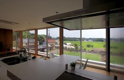 栃木県宇都宮市 House K - 太陽と風をつかまえる家 - (自然を感じる2階リビング)