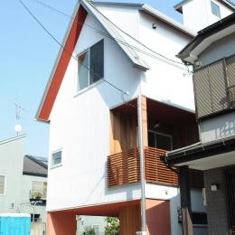 世田谷I邸-Ⅱ (前面道路からの外観)
