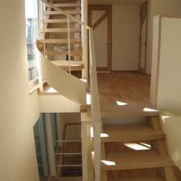 世田谷I邸-Ⅱ (開放的な階段)