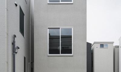 House in Osaki (コンパクトな外観)