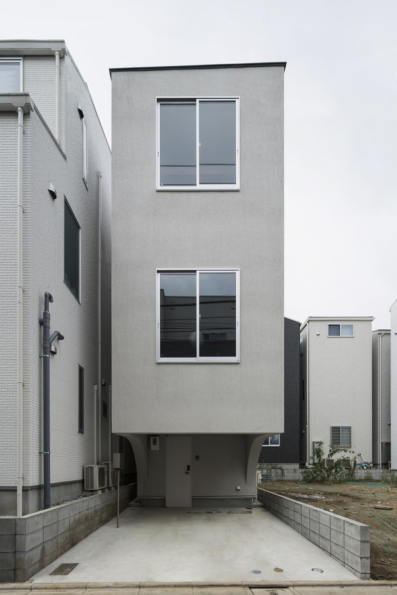 外観事例:コンパクトな外観(House in Osaki)