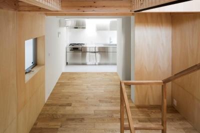 ステンレスキッチン (House in Osaki)