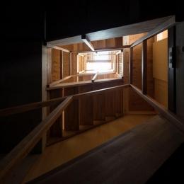 House in Osaki (階段を照らすトップライト)