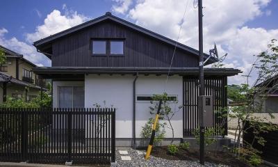 西立面|松本岡田の家 -切妻六.五間堂-