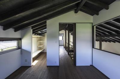 主寝室 (松本岡田の家 -切妻六.五間堂-)
