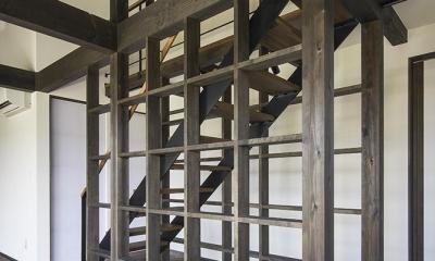 階段|松本岡田の家 -切妻六.五間堂-