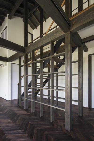 松本岡田の家 -切妻六.五間堂- (階段)