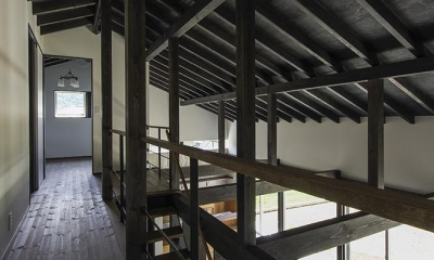 2階ギャラリー (廊下)|松本岡田の家 -切妻六.五間堂-