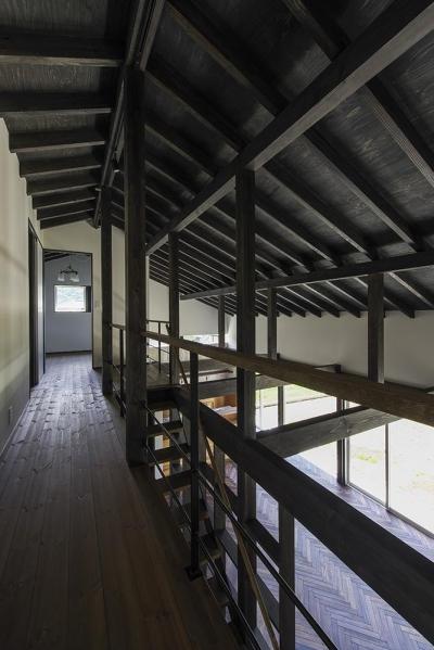 松本岡田の家 -切妻六.五間堂- (2階ギャラリー (廊下))