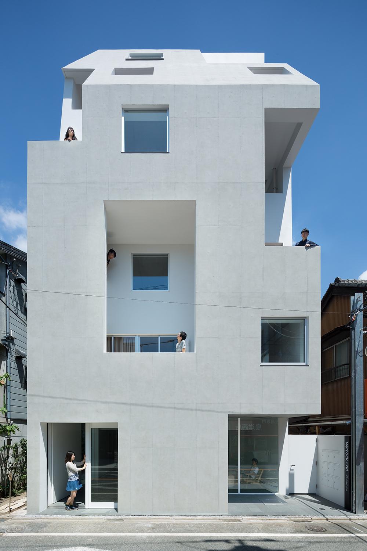 北千束の集合住宅の部屋 個性的な外観