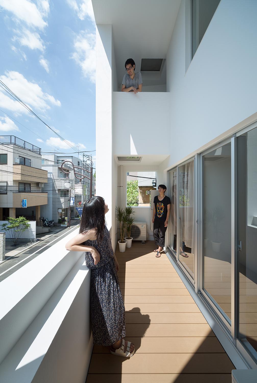 北千束の集合住宅の部屋 コミュニケーションがとれる空間