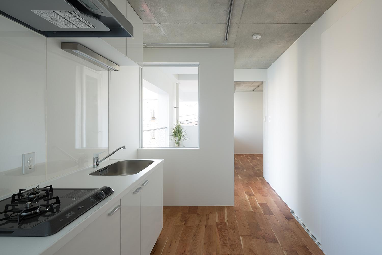 キッチン事例:キッチン1(北千束の集合住宅)