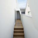 大森の工場付住宅の写真 ベランダにある階段