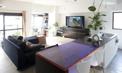 TZN-天板3枚重ねのオリジナルテーブルを (LDK)