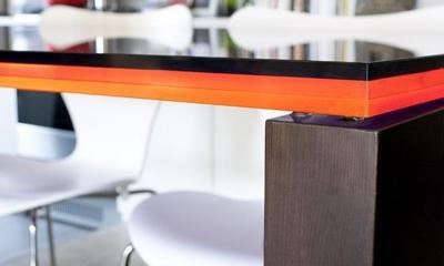 TZN-天板3枚重ねのオリジナルテーブルを