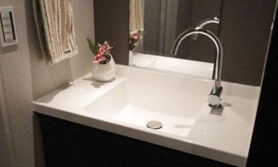 洗面所|case91・無垢材フローリングと漆喰壁のエコ・リノベーション