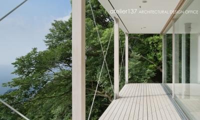 028熱海伊豆山Yさんの家 (テラス)