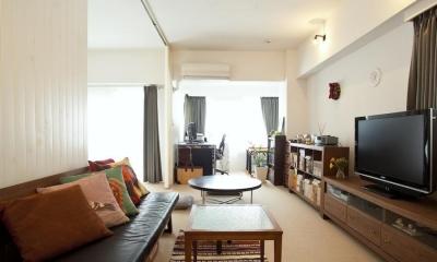 CABIN-ザイルの床、羽目板の部屋、レンガの壁