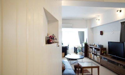 CABIN-ザイルの床、羽目板の部屋、レンガの壁 (壁)