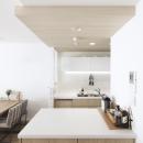 建築家とつくりあげた理想のリノベーション空間の写真 キッチンにある作業カウンター