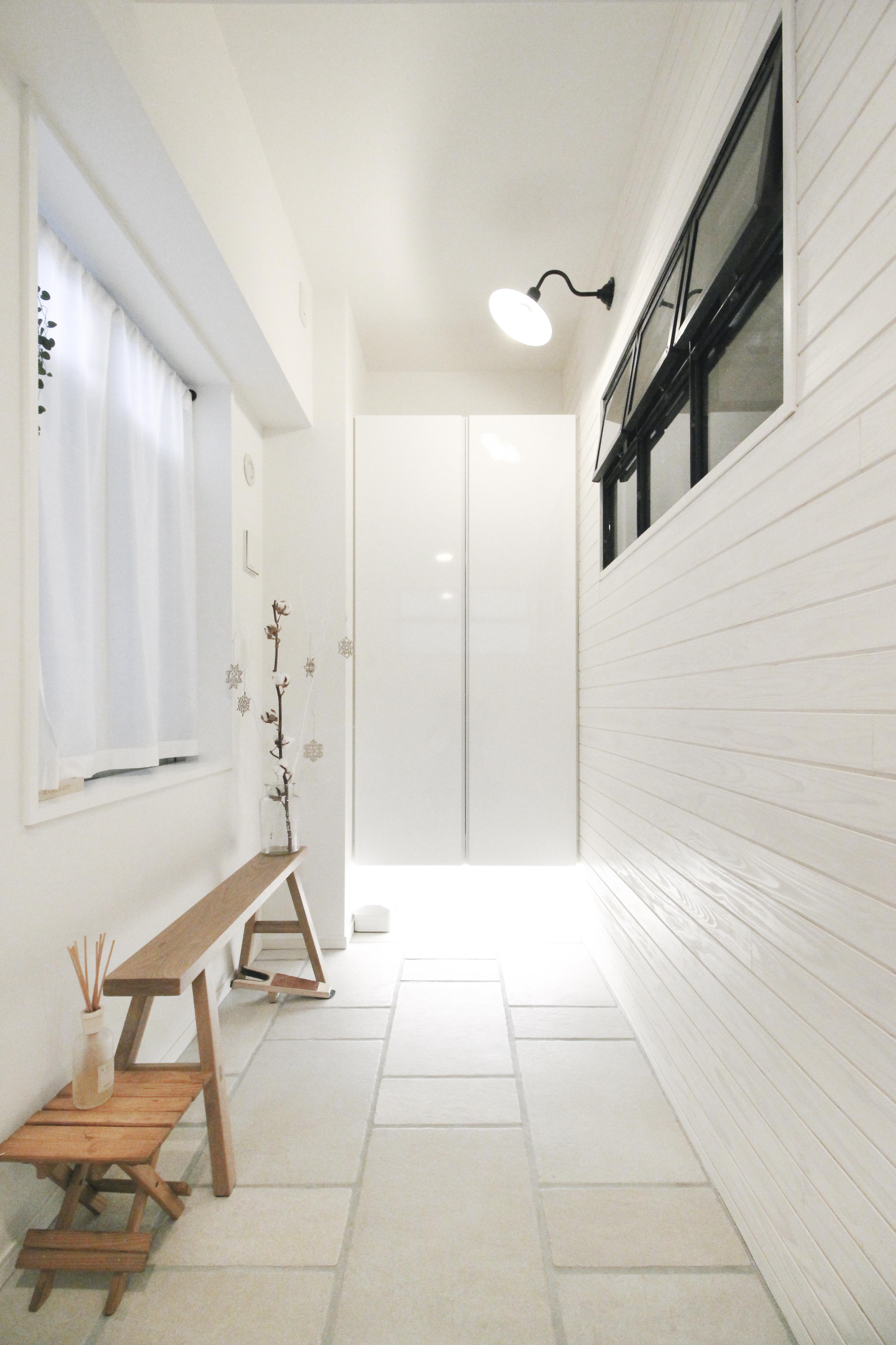建築家とつくりあげた理想のリノベーション空間の部屋 広々とした玄関土間