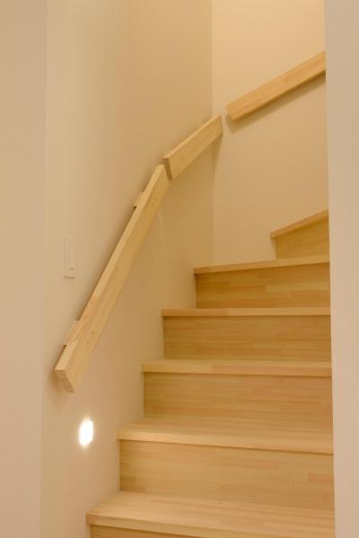 木製階段&手すり (つくり続ける楽しさ)