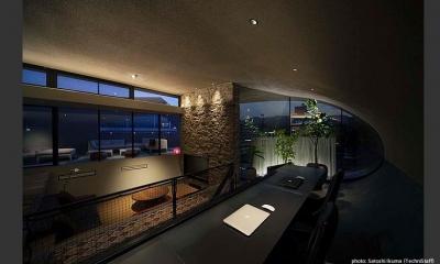 眺めの良いスタディコーナー|H邸
