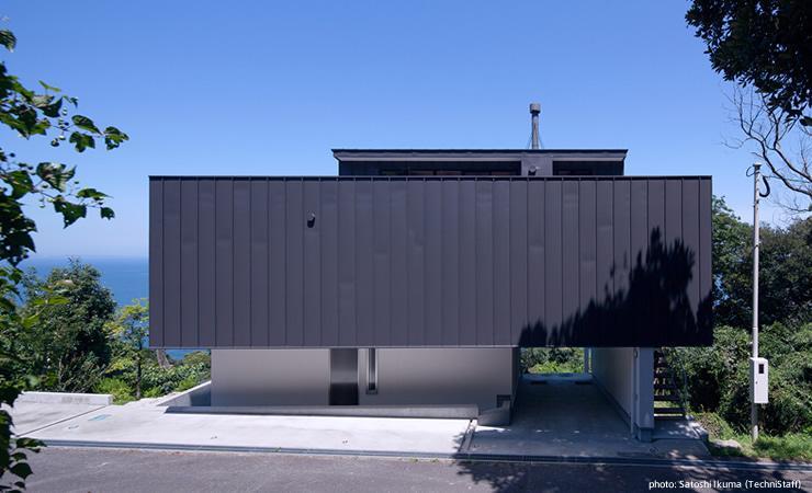 糸島の別荘 (モダンな外観)
