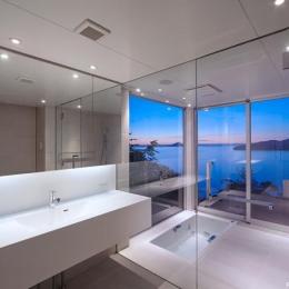 絶景のバスルーム