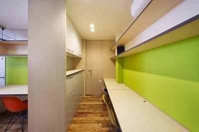 事務室 (ももの木鍼灸院 renov.)