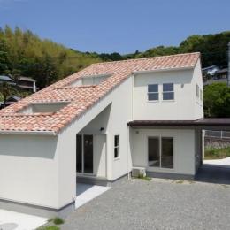 ORANGE HAUS (天窓のある片流れ屋根の外観)
