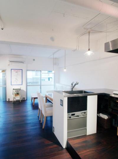 キッチン (LINDEN-築26年ショップのような住居兼仕事場)