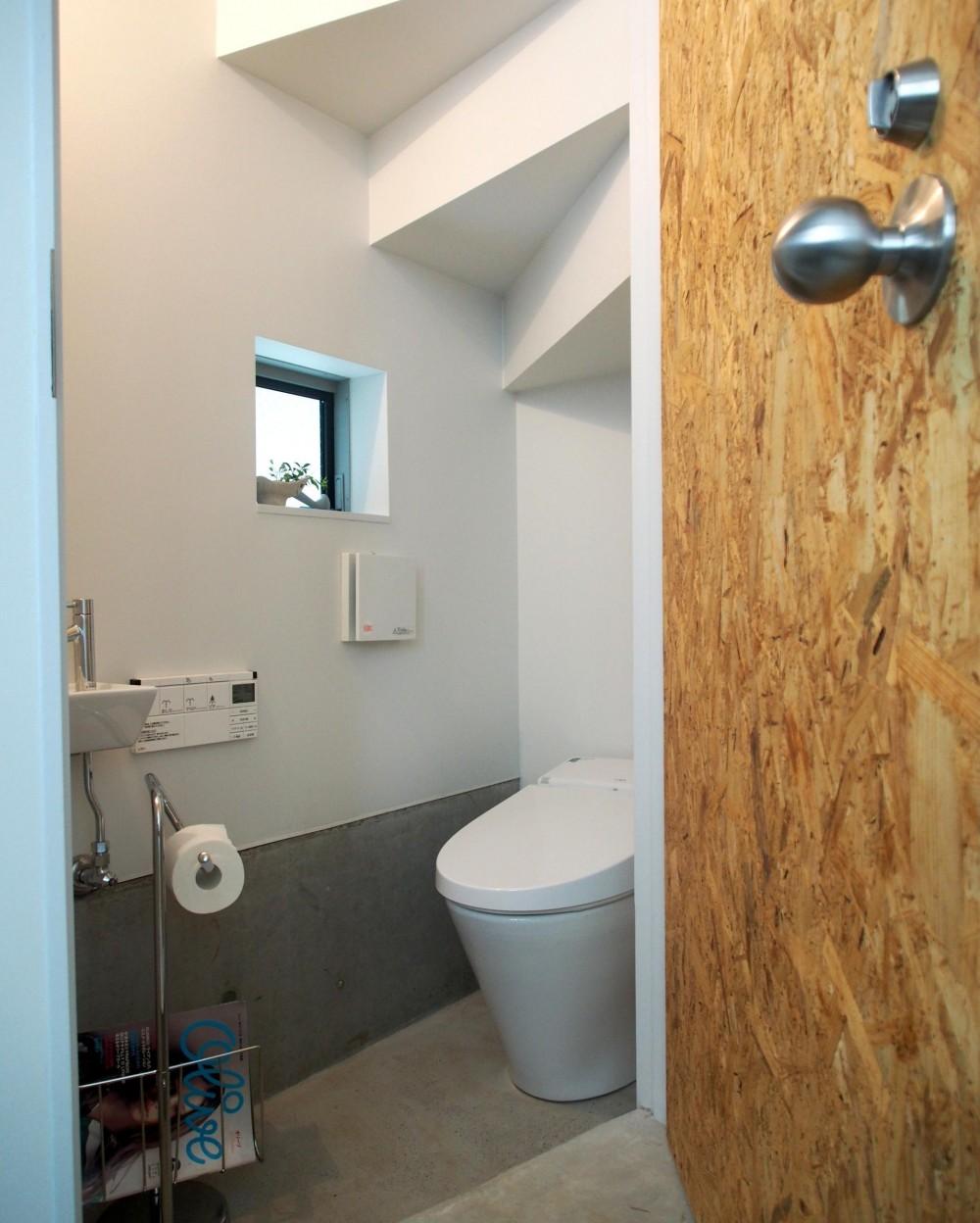 本町の住宅 (階段下のスペースを利用したトイレ)